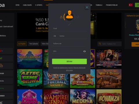 Betbaba Casino Üyelik Açma